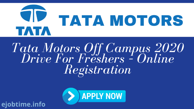 Tata Motors Off-Campus 2020