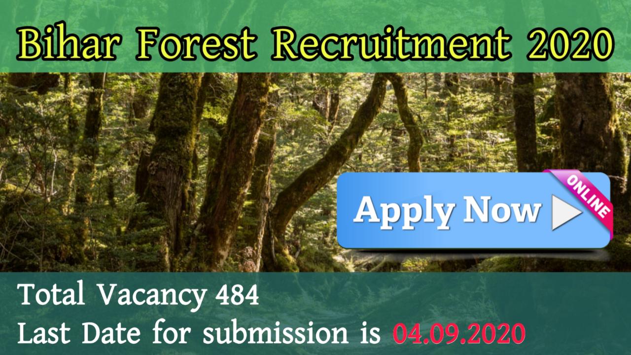 Bihar Forest Recruitment 2020