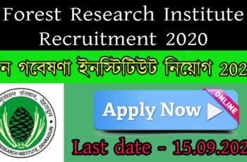 Forest Research Institute Recruitment 2020