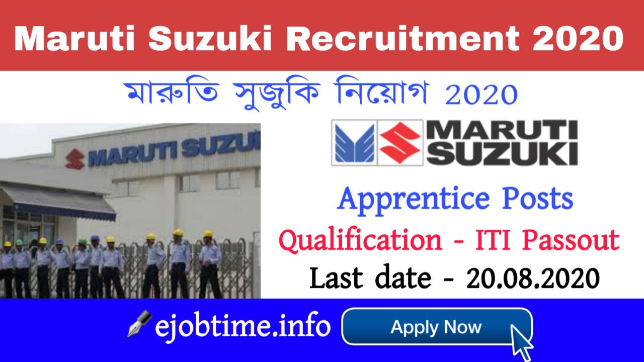 MarutSuzuki Recruitment 2020