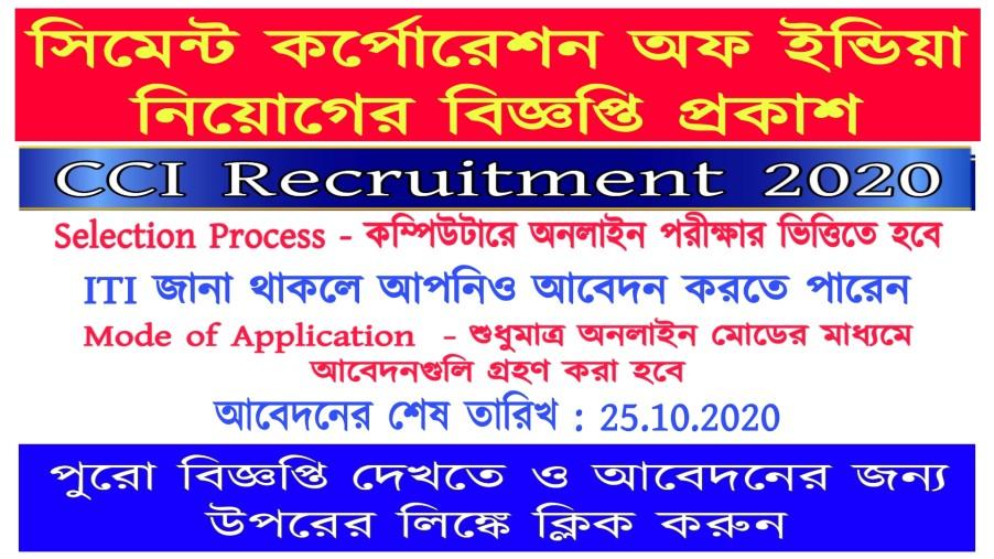 CCI Recruitment 2020