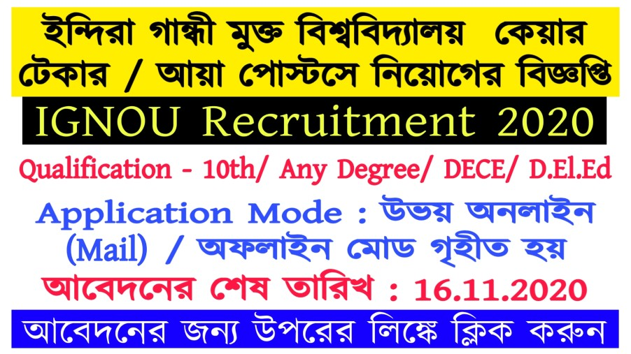 IGNOU Recruitment 2020