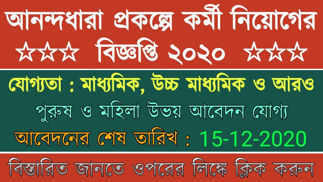 Anandadhara Recruitment 2020